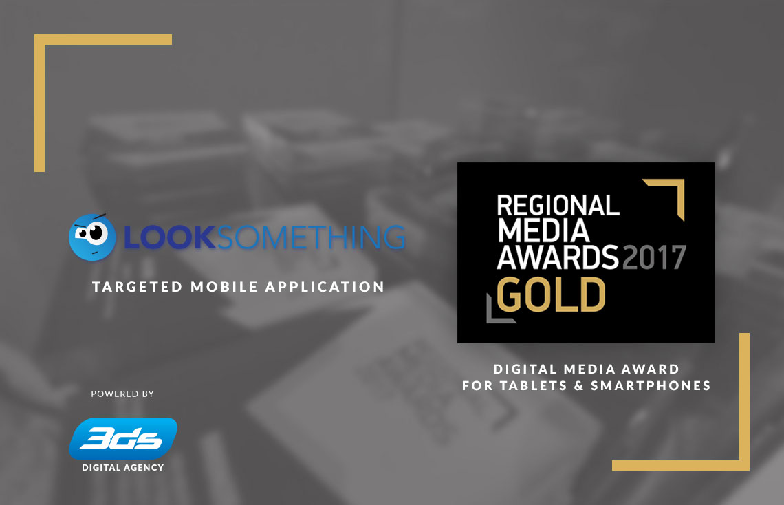 Gold award for 3ds and LookSomething at the Regional Media Awards 2017