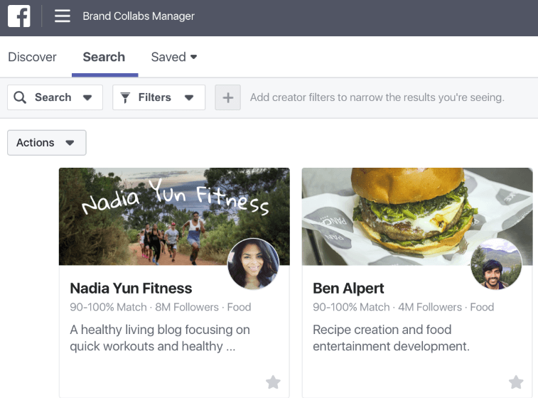 brands collabs manager από το facebook